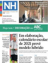 Capa do jornal Jornal NH 11/11/2020