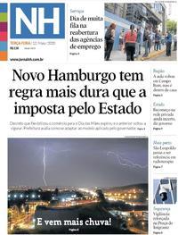 Capa do jornal Jornal NH 12/05/2020