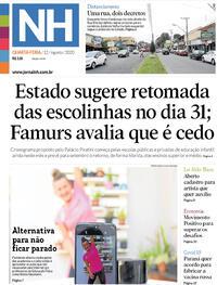 Capa do jornal Jornal NH 12/08/2020