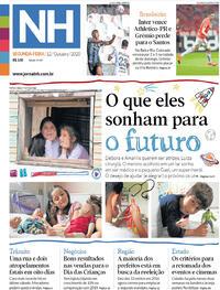 Capa do jornal Jornal NH 12/10/2020