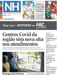 Capa do jornal Jornal NH 12/11/2020