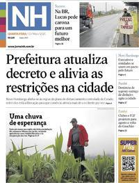 Capa do jornal Jornal NH 13/05/2020
