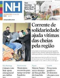 Capa do jornal Jornal NH 13/07/2020
