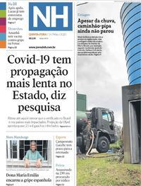 Capa do jornal Jornal NH 14/05/2020