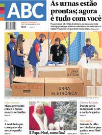 Capa do jornal Jornal NH 14/11/2020