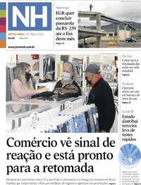 Capa do jornal Jornal NH 15/05/2020