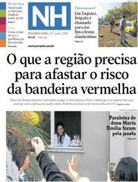 Capa do jornal Jornal NH 15/06/2020