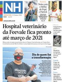 Capa do jornal Jornal NH 15/10/2020