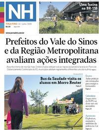 Capa do jornal Jornal NH 16/06/2020