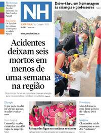 Capa do jornal Jornal NH 16/10/2020