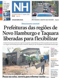 Capa do jornal Jornal NH 17/08/2020