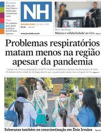 Capa do jornal Jornal NH 18/05/2020