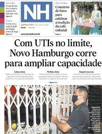 Capa do jornal Jornal NH 18/06/2020