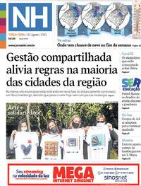 Capa do jornal Jornal NH 18/08/2020