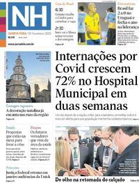 Capa do jornal Jornal NH 18/11/2020