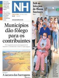 Capa do jornal Jornal NH 19/05/2020