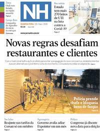 Capa do jornal Jornal NH 20/05/2020