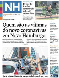 Capa do jornal Jornal NH 20/07/2020