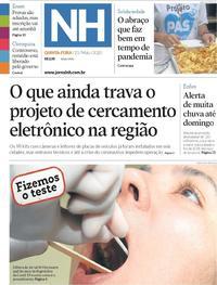 Capa do jornal Jornal NH 21/05/2020
