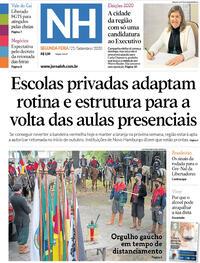 Capa do jornal Jornal NH 21/09/2020