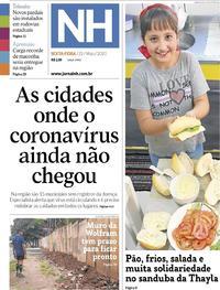 Capa do jornal Jornal NH 22/05/2020