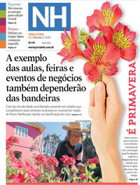 Capa do jornal Jornal NH 22/09/2020