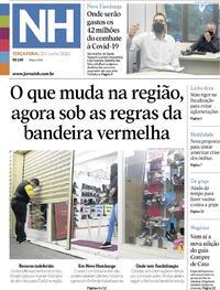 Capa do jornal Jornal NH 23/06/2020