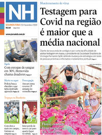 Capa do jornal Jornal NH 23/11/2020