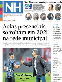 Capa do jornal Jornal NH 24/09/2020