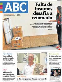 Capa do jornal Jornal NH 24/10/2020