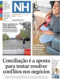 Capa do jornal Jornal NH 25/05/2020