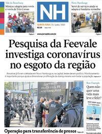 Capa do jornal Jornal NH 25/06/2020