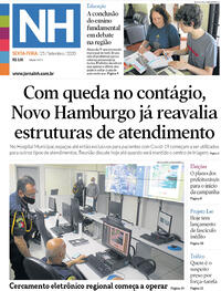 Capa do jornal Jornal NH 25/09/2020
