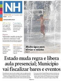 Capa do jornal Jornal NH 25/11/2020