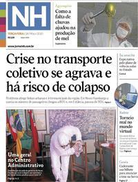 Capa do jornal Jornal NH 26/05/2020