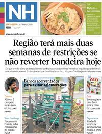 Capa do jornal Jornal NH 26/06/2020