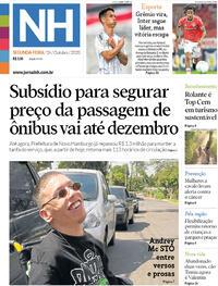 Capa do jornal Jornal NH 26/10/2020