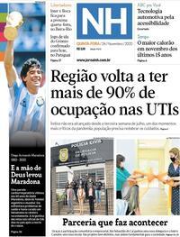 Capa do jornal Jornal NH 26/11/2020