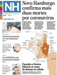 Capa do jornal Jornal NH 27/05/2020