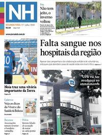 Capa do jornal Jornal NH 27/07/2020