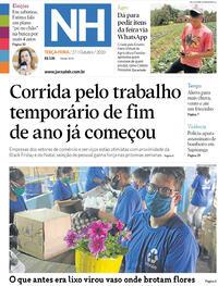 Capa do jornal Jornal NH 27/10/2020