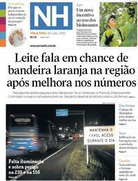 Capa do jornal Jornal NH 28/07/2020