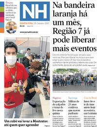Capa do jornal Jornal NH 28/10/2020