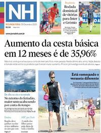 Capa do jornal Jornal NH 28/12/2020