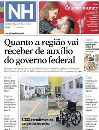 Capa do jornal Jornal NH 29/05/2020