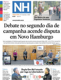 Capa do jornal Jornal NH 29/09/2020