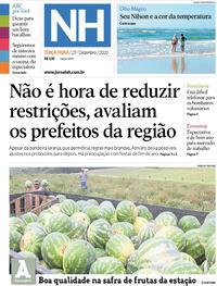 Capa do jornal Jornal NH 29/12/2020