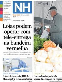 Capa do jornal Jornal NH 30/06/2020