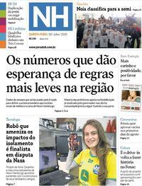 Capa do jornal Jornal NH 30/07/2020