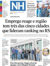 Capa do jornal Jornal NH 30/10/2020